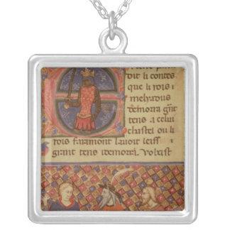 Merlin tutoring Arthur Silver Plated Necklace