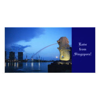 Merlion, Love from Singapore! Personalized Photo Card