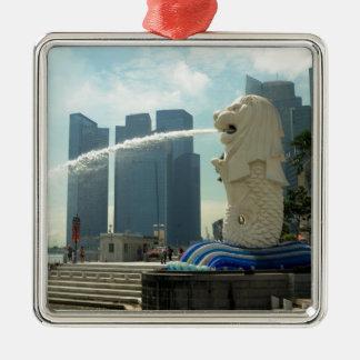 Merlion Sculpture Singapore Christmas Ornament