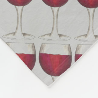 Merlot Cabernet Red Wine Glass Drinking Blanket