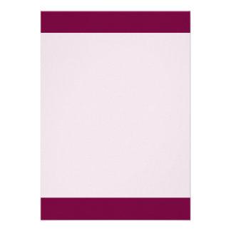 """Merlot colored 5"""" x 7"""" invitation card"""