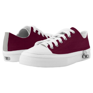 Merlot & Grey Low Tops