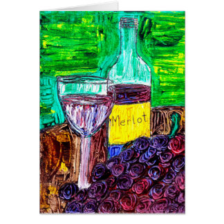 Merlot in the Abstract Greeting Card