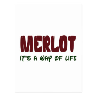 Merlot It's a way of life Post Cards