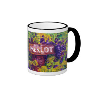 Merlot on the Vine at Butterfly Creek Winery Ringer Coffee Mug