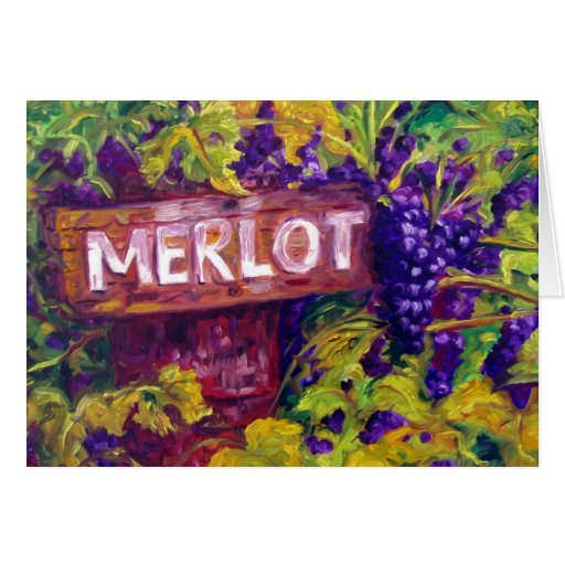 Merlot on the Vine from Butterfly Creek Winery Greeting Cards