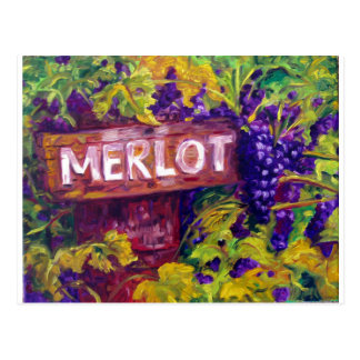 Merlot on the Vine Postcard