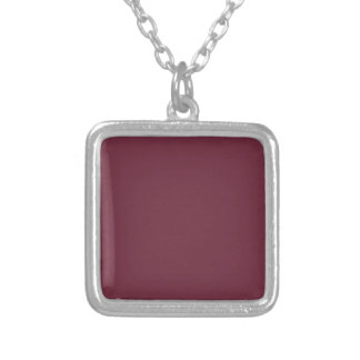 MERLOT (solid dark wine red color) ~ Square Pendant Necklace