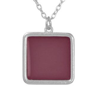 MERLOT (solid dark wine red color) ~ Square Pendant Necklace