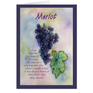 Merlot Wine Grape Greeting Card