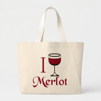 Merlot Wine Lover Gifts Canvas Bags