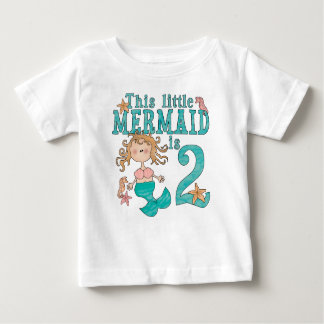 Mermaid 2nd Birthday Baby T-Shirt
