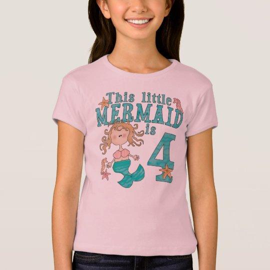 Mermaid 4th Birthday T-Shirt