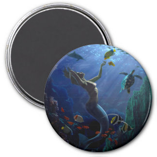 Mermaid 7.5 Cm Round Magnet