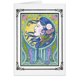 Mermaid a la Mucha Card