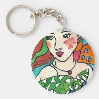 Mermaid and a Turtle Key Chain