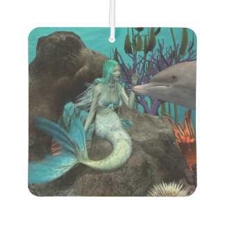 Mermaid and Dolphin Car Air Freshener