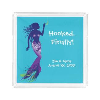 Mermaid and Golden Hook Acrylic Tray