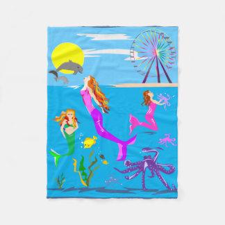 Mermaid and Ocean Blanket
