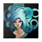 mermaid and octopus tile