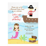 Mermaid and Pirate Birthday Party Invitations
