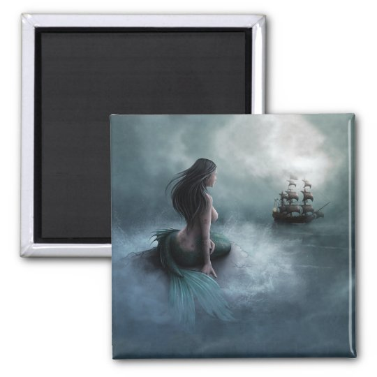 Mermaid and Pirate Ship Magnet