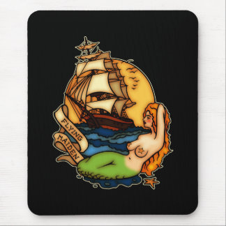 Mermaid and Pirate Ship Mouse Mat