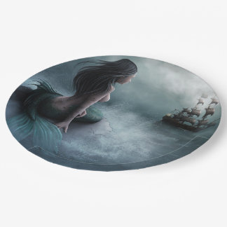 Mermaid and Pirate Ship Paper Plate