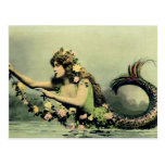 Mermaid and Roses Post Card