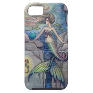 Mermaid and Seahorse Fantasy Art by Molly Harrison iPhone 5 Covers