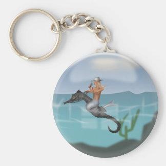 Mermaid and seahorse keychains