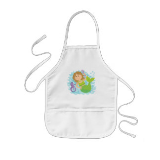 Mermaid and Seahorse Kids Apron