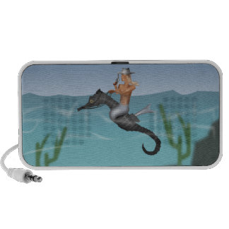 Mermaid and seahorse notebook speakers