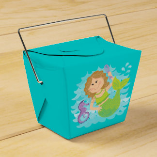 Mermaid and Seahorse Takeaway Favour Box
