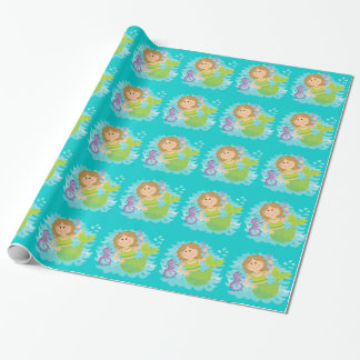 Mermaid and Seahorse Wrapping Paper