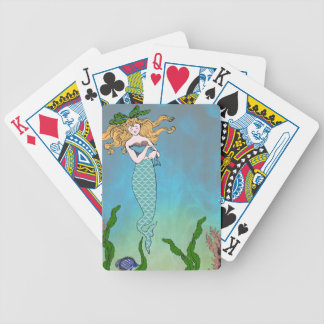 Mermaid and seal bicycle playing cards