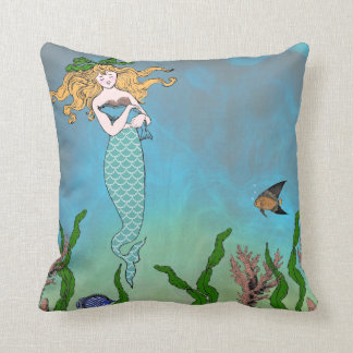 Mermaid and seal cushion