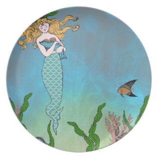Mermaid and seal plate