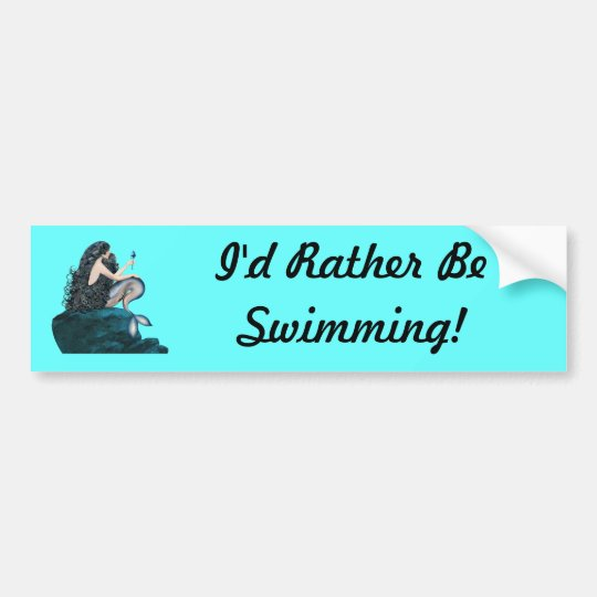 Mermaid and the Rose Bumper Sticker