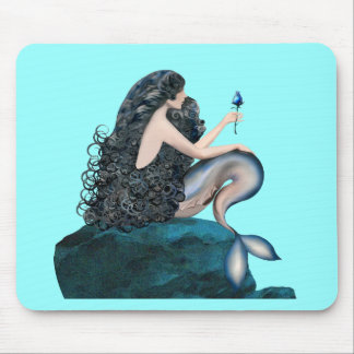 Mermaid and the Rose Mouse Mat