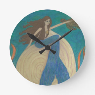 Mermaid and Turtle Wall Clock