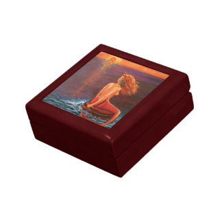 "Mermaid Art Gift Box - ""Watching The Sunset"""