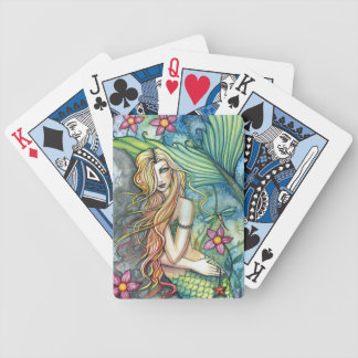 Mermaid Art Playing Cards by Molly Harrison