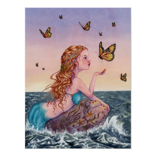 Mermaid Art Poster - Bring Me Tidings
