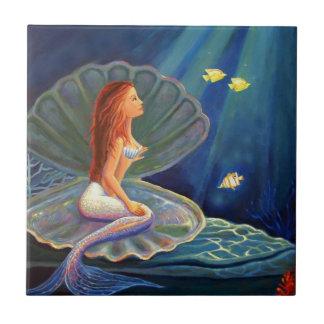 Mermaid Art Tile - By Susan Rodio Art