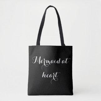 Mermaid at heart tote bag