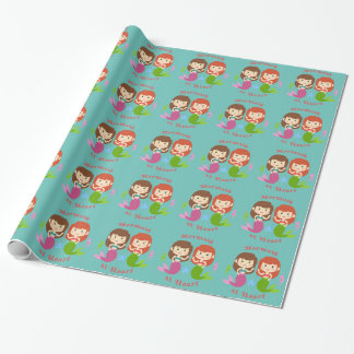 Mermaid at Heart Wrapping Paper
