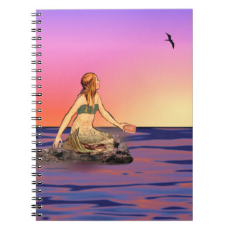 Mermaid at sunset notebooks