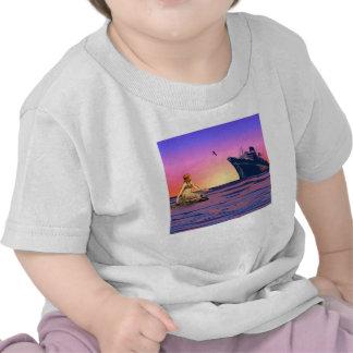 Mermaid at sunset tee shirt