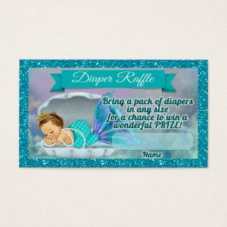 Mermaid Baby Shower Diaper Raffle Tickets #130